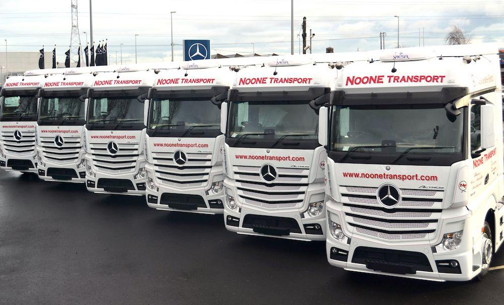 Noone expands mercedes benz fleet fleet ie haulier for Mercedes benz fleet